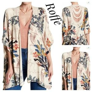 EUC ~ ANTHROPOLOGIE Roffe Boho Kimono Cover-up